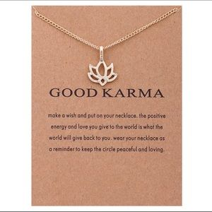 Jewelry - GOLD DIPPED GOOD KARMA LOTUS FLOWER MINIMALIST